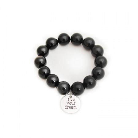 Bracelet en Obsidienne 14mm