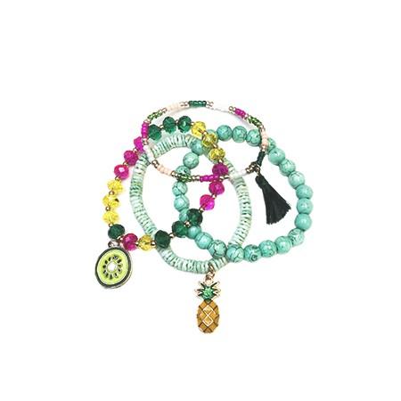 Bracelets Fantaisie FRUIT x4