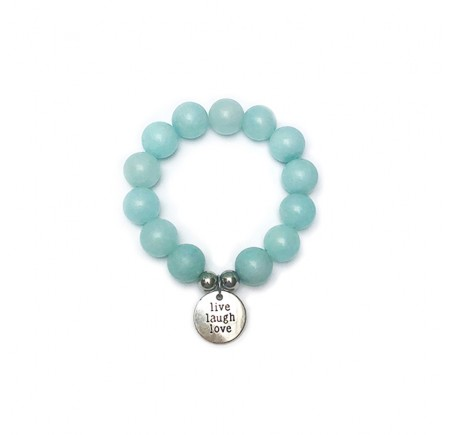 "Bracelet ""Joie"" AMAZONITE 14mm"