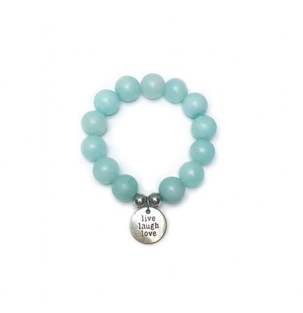 "Bracelet ""Joie"" AMAZONITE 14mm"