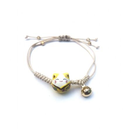 "Bracelet à cordon ""Lucky cat"""