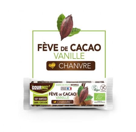 Barre fève de cacao, vanille et chanvre