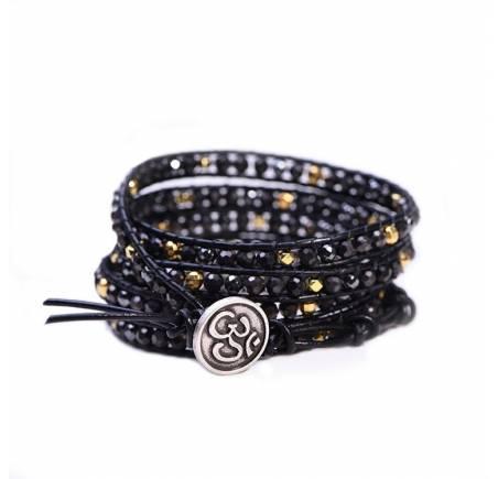 """Bracelet Wrap """"Harmonie"""" HEMATITE"""