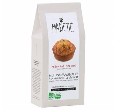 Préparation pour Muffins Framboise à le fleur de sel de l'île de Ré BIO