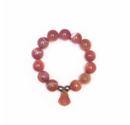 """Bracelet """"douceur"""" Agate Rouge 14mm"""