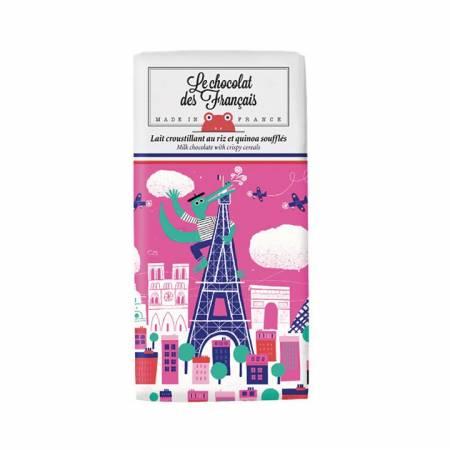 """Chocolat lait 41% croustillant aux céréales """"CROCODILE"""" BIO"""
