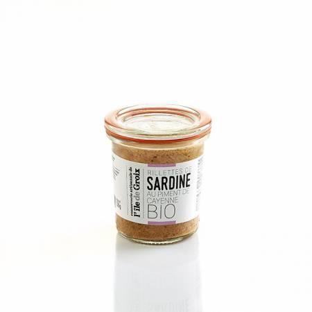 Rillettes de Sardine au Piment BIO 100g