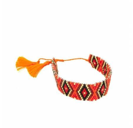 Bracelet Japonais en Perles de rocailles Orange