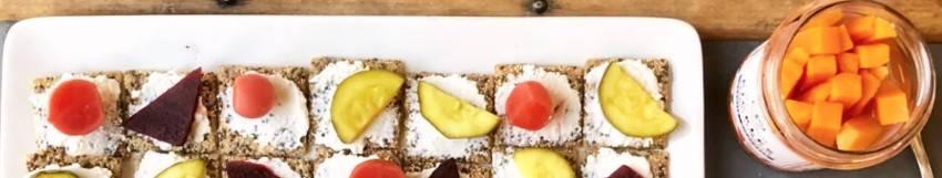 Sélection de produits salés vegan et végétariens
